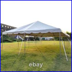 Commercial 20x40' Frame Tent White Vinyl Weekender West Coast Event Party Canopy
