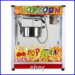 Commercial Electric Popcorn Machine Popcorn Maker Movie Popcorn 1300W Flat Top