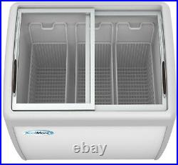 Commercial Ice Cream Chest Freezer 10 Cu. Ft. With Adjustable Thermostat White