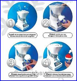 Commercial Ice Shaver Slush Maker Snow Cone Machine with Syrup Samples Shaved Ice