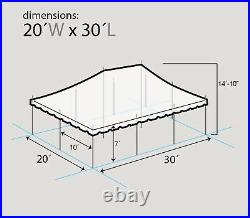 Commercial Party Tent 20x30 Canopy White Vinyl Rental Pole Tent Outdoor Wedding