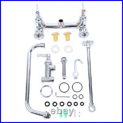 Commercial Wall Mount Kitchen Restaurant Pre-Rinse Faucet Swivel+ Add-On Tap