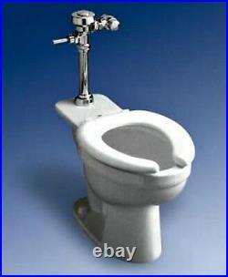 ELJER 17 Inch Elongated Rim Bowl Commercial White Toilet 1.6 GPF 111-2145-00
