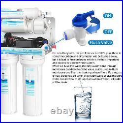 Geekpure 5 Stage Reverse Osmosis Water Filter System with Booster Pump 75 GPD