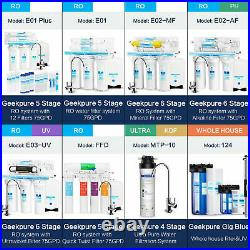 Geekpure 6 Stage Reverse Osmosis Water Filter System with Alkaline Filter 75 GPD