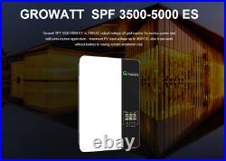 Growatt SPF 5000 ES Off grid solar inverter support 48V battery MPPT+WIFI Module