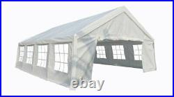 Heavy Duty Large Commercial 16 x 26 Ft White Tent Canopy with Shelter for