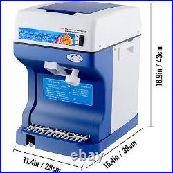 Ice Crusher Maker Commercial Ice Shaver Snow Cone Machine Instrument Bonus Blade