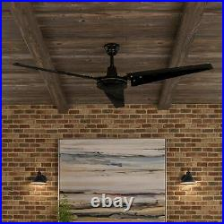 Industrial Ceiling Fan Commercial Outdoor Indoor 60 With Remote Control Black