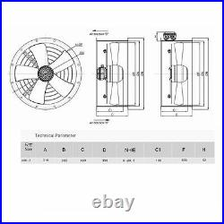 Industrial Duct Fan Cased Axial Fan Commercial Extractor + Fan Speed Controller