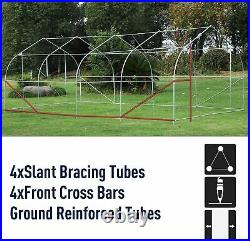 Large Tunnel Greenhouse Walk-In Commercial Gardening Green House Deluxe Kit New