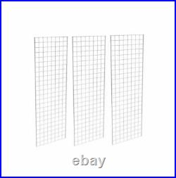 Only Hangers Commercial Grid Panels, 2' x 6' White (Pack of 3)