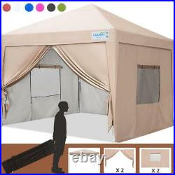 Quictent 10'X10' EZ Pop Up Canopy Tent Instant Gazebo Commercial Outdoor Shelter