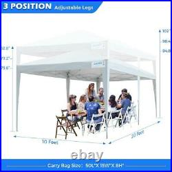 Quictent 10x20 Commercial Pop UP Canopy Patio Gazebo Event Party Tent WithSidewall