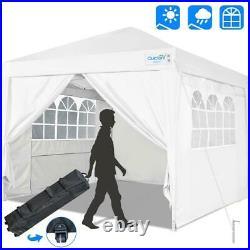 Quictent White 10'x10' Commercial EZ Pop Up Canopy Folding Gazebo Party Tent US