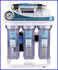 Reverse Osmosis Ultraviolet Water Filter System Sterilizer RO 6 Stage 100 GPD