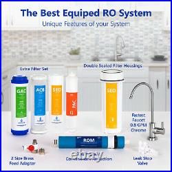 Reverse Osmosis Water Filtration System RO plus 4 Free Filters 100 GPD