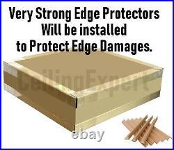 SUSPENDED CEILING TILES SANDTONE TEXTURE TEGULAR EDGE 600x600 595x595mm 10Tiles