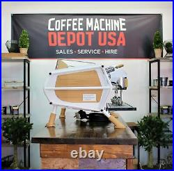 Sanremo White & Wood Cafe Racer 2 Group Commercial Espresso Machine