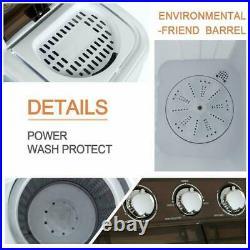 Semi-automatic Portable Washing Machine 16.5lbs Mini Twin Tub Washer Compact