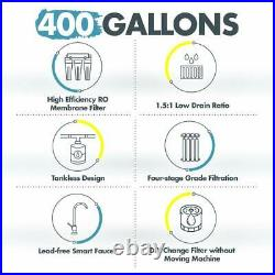 SimPure Reverse Osmosis Water Filtration System, Tankless, 400GPD, Smart Faucet