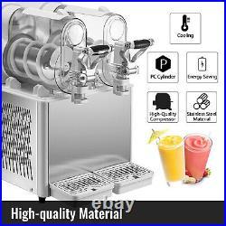 Slushy Machine, Daiquiri Machine Commercial 3L x 2 Frozen Drink Slush Machine