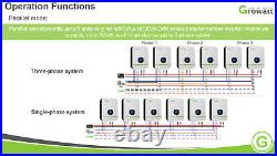 Special! 48V 6kW Growatt 120V/240V 2x 4KW-80A x2 MPPT solar Inverter Split Phase