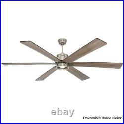Statewood 70 in. LED Brushed Nickel Ceiling Fan Light Kit Remote Driftwood Beach