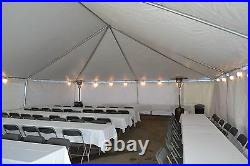 TENT SIDE WALLS NEW 10' tall X 20' wide white Commercial, George Maser