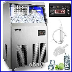 VEVOR 132Lbs Commercial Ice Maker Ice Cube Maker Machine 60KG/24H 28LBS Storage
