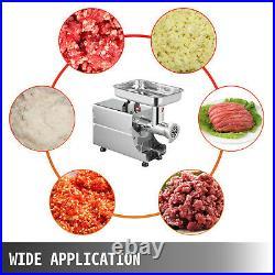 VEVOR Commercial 176LBS/H Steel Meat Grinder 2 Knifes High-performance Mincer