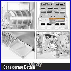 VEVOR Slushy Machine 3L x 2 Daiquiri Machine Commercial Frozen Drink Ice Maker