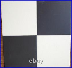 VICTORIAN OLD ENGLISH ORIGINAL STYLE FLOOR TILES 10x10 cm BLACK OR WHITE M2