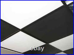 Washable PVC Ceiling Tiles EcoTile Smooth 2' x 2' White Drop Tile Mold Free