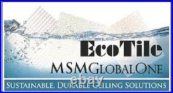 Washable PVC Ceiling Tiles EcoTile Techno 2' x 4' White Lay-in Tile Mold Free