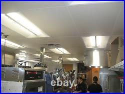 WaterProof PVC Ceiling Tiles EcoTile Smooth 2' x 4' White Lay-in Tile No Mold