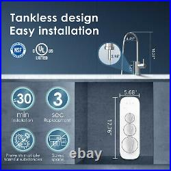 Waterdrop Reverse Osmosis Water Filtration System, Tankless, 400GPD, Smart Faucet