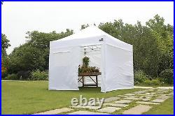 Waterproof Ez Pop Up Commercial Canopy 10x10 Patio Gazebo Tent with 4 Side Walls