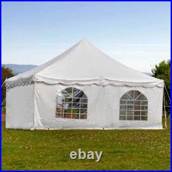 Weekender 20x20' Pole Tent Canopy Commercial Event Party Shelter With Sidewalls