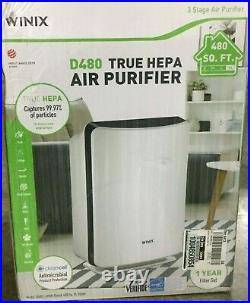 Winix 3-Stage HEPA Air Purifier Large Room Activated Charcoal Air Cleaner, D480